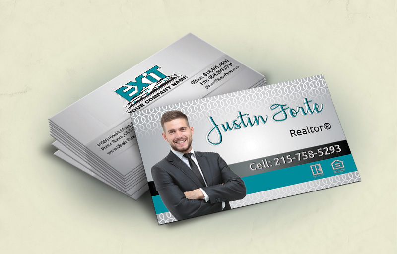 Exit Realty Standard Corner Spot UV(Gloss) Raised Business Cards - Exit Realty Approved Vendor - Glossy, Embossed Business Cards for Realtors | BestPrintBuy.com