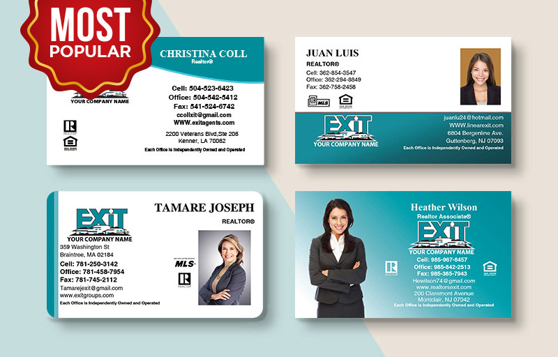 Exit Realty Real Estate Standard Business Cards - Exit Realty Approved Vendor Standard & Rounded Corner Business Cards for Realtors | BestPrintBuy.com