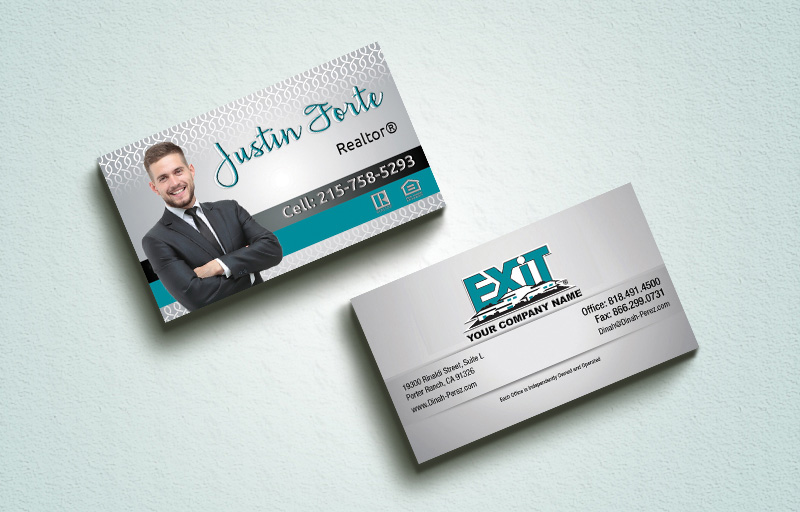 Exit Realty Real Estate Spot UV (Gloss) Raised Business Cards - Exit Realty Approved Vendor Luxury Raised Printing & Suede Stock Business Cards for Realtors | BestPrintBuy.com