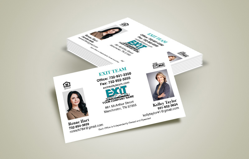 Exit Realty Team Business Cards - Exit Realty Approved Vendor marketing materials | BestPrintBuy.com