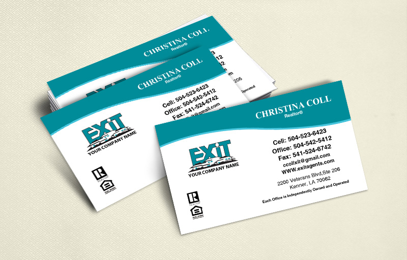 Exit Realty Ultra Thick Business Cards Without Photo - Exit Realty Approved Vendor - Luxury, Thick Stock Business Cards with a Matte Finish for Realtors | BestPrintBuy.com