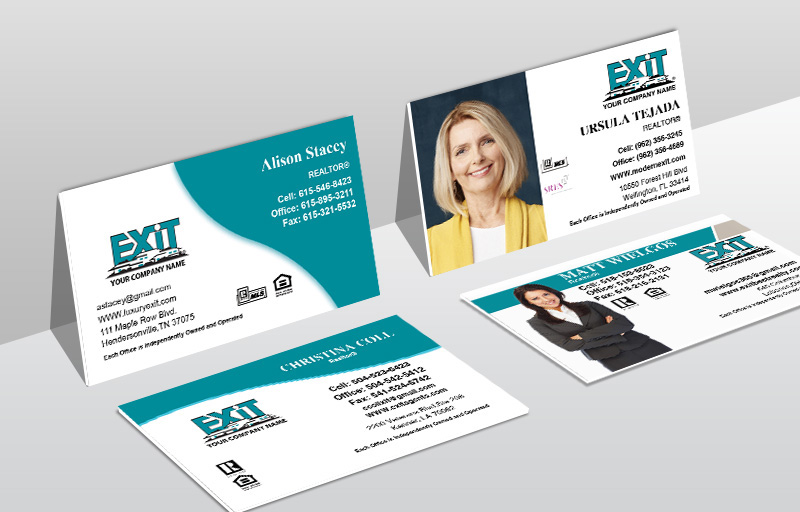 Exit Realty Real Estate Ultra Thick Business Cards - Exit Realty Approved Vendor Thick Stock & Matte Finish Business Cards for Realtors | BestPrintBuy.com