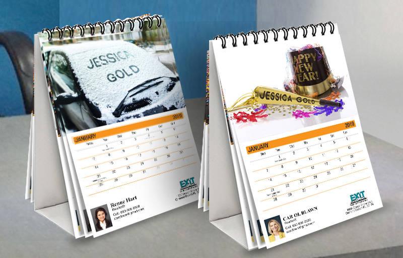 Exit Realty WOW! Desk Calendars - Exit Realty approved vendor custom personalized marketing materials | BestPrintBuy.com