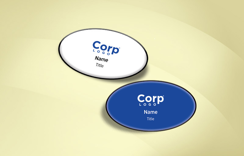 eXp Realty Real Estate Domed Oval Name Badge - eXp Realty Name Tags for Realtors | BestPrintBuy.com