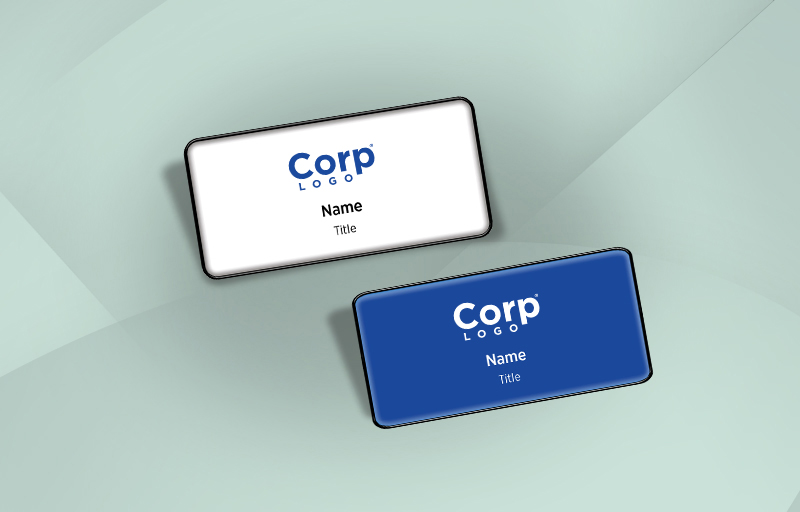 eXp Realty Real Estate Domed Rectangle Name Badge - eXp Realty Name Tags for Realtors | BestPrintBuy.com