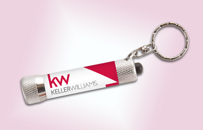 Keller Williams Real Estate Full-Color Chroma Flashlight - KW approved vendor personalized realtor flashlight key chain promotional products | BestPrintBuy.com