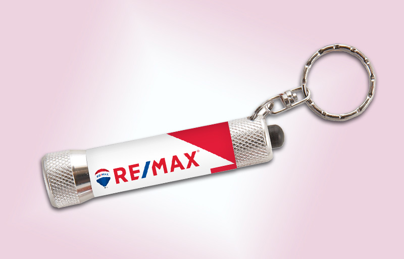 RE/MAX Real Estate Full-Color Chroma Flashlight - RE/MAX  personalized realtor flashlight key chain promotional products | BestPrintBuy.com