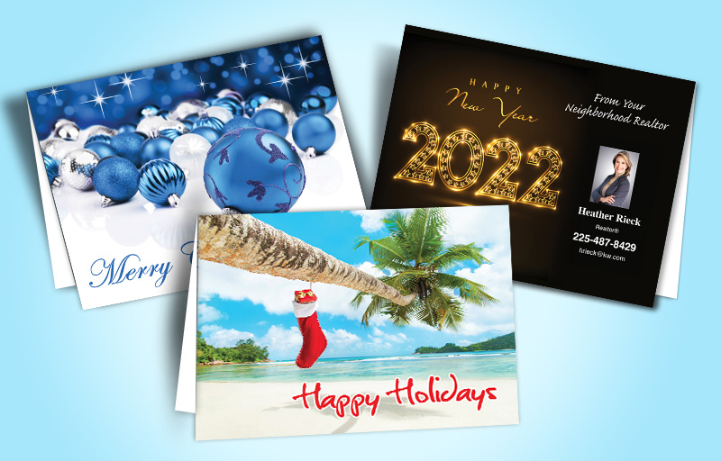 RE/MAX Real Estate Holiday Greeting Cards - RE/MAX  custom holiday note cards for realtors | BestPrintBuy.com