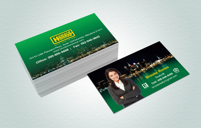 Howard Hanna Real Estate Matching Two-Sided Business Cards - Howard Hanna marketing materials | BestPrintBuy.com
