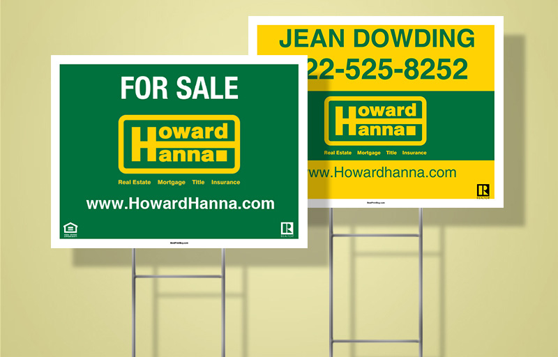 Howard Hanna Real Estate Signs Get Noticed
