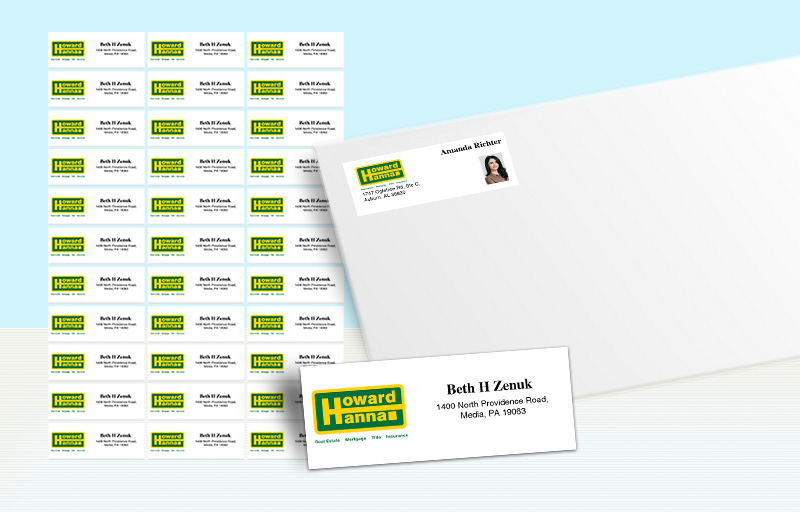 Howard Hanna Real Estate Return Address Labels - Howard Hanna  personalized mailing labels for envelopes | BestPrintBuy.com