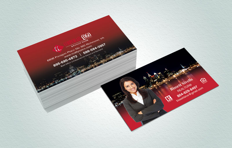 HomeSmart Real Estate Matching Two-Sided Business Cards - HomeSmart Real Estate marketing materials | BestPrintBuy.com