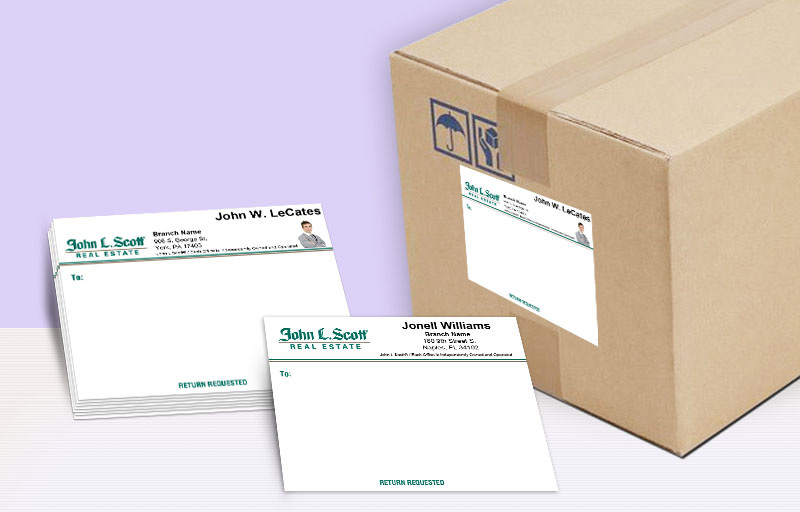John L. Scott Real Estate Shipping Labels - John L. Scott Real Estate personalized mailing labels | BestPrintBuy.com