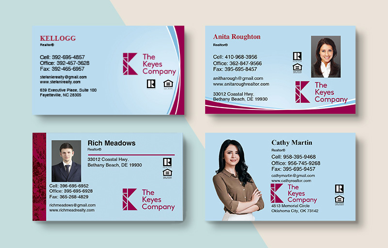 The Keyes Company Real Estate Business Card Magnets - The Keyes Company  magnets with photo and contact info | BestPrintBuy.com