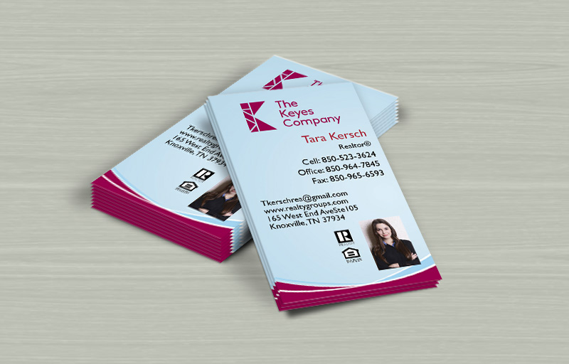 The Keyes Company Real Estate Vertical Business Cards - The Keyes Company marketing materials | BestPrintBuy.com