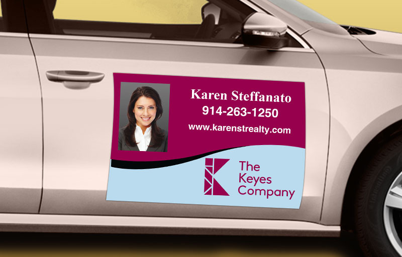 The Keyes Company Real Estate 12 x 18 with Photo Car Magnets | BestPrintBuy.com