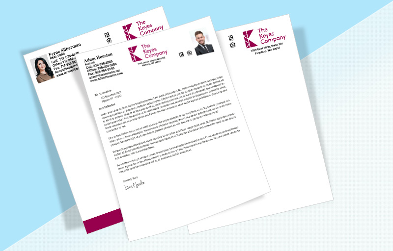 The Keyes Company Real Estate Letterheads - The Keyes Company Custom Letterhead Stationery for Realtors | BestPrintBuy.com