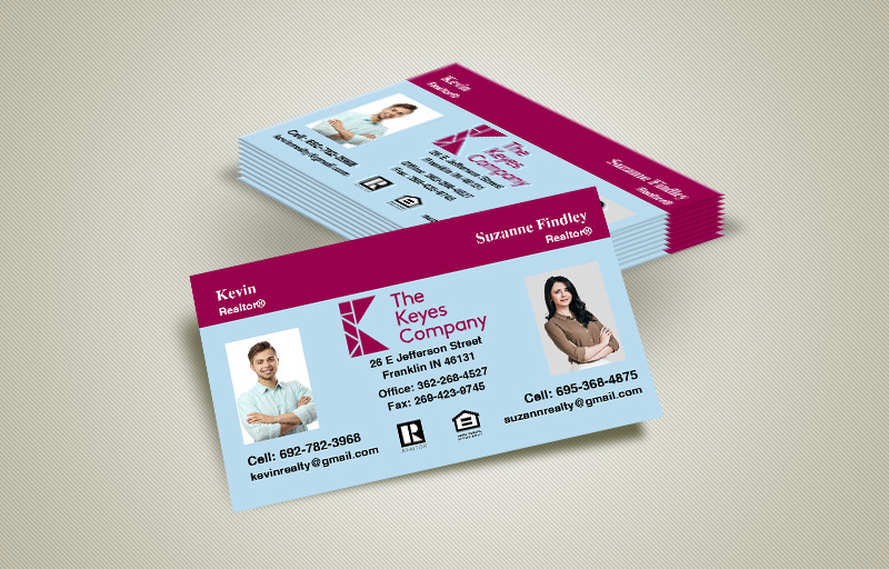 The Keyes Company Real Estate Team Business Cards - The Keyes Company marketing materials | BestPrintBuy.com