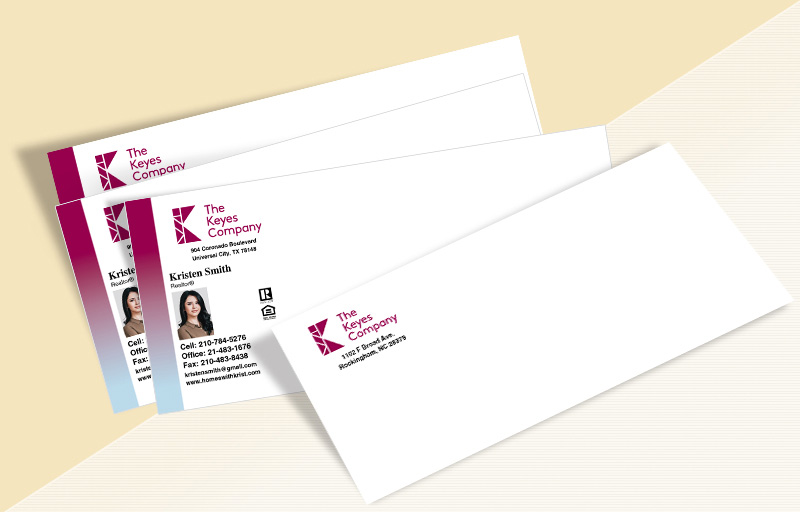 The Keyes Company Real Estate #10 Envelopes - The Keyes Company Custom #10 Envelopes Stationery for Realtors | BestPrintBuy.com