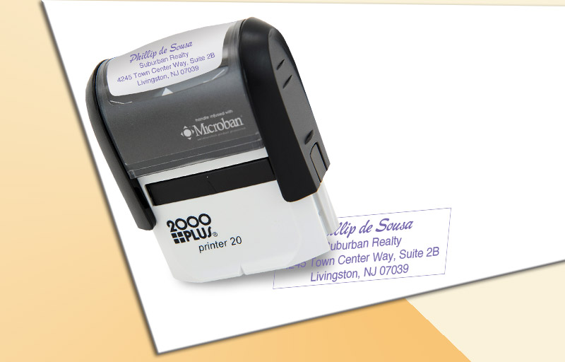 Keller Williams Real Estate 2000 Plus Small Return Address Rubber Stamp - KW approved vendor custom self inking stamps for marketing materials and stationery | BestPrintBuy.com