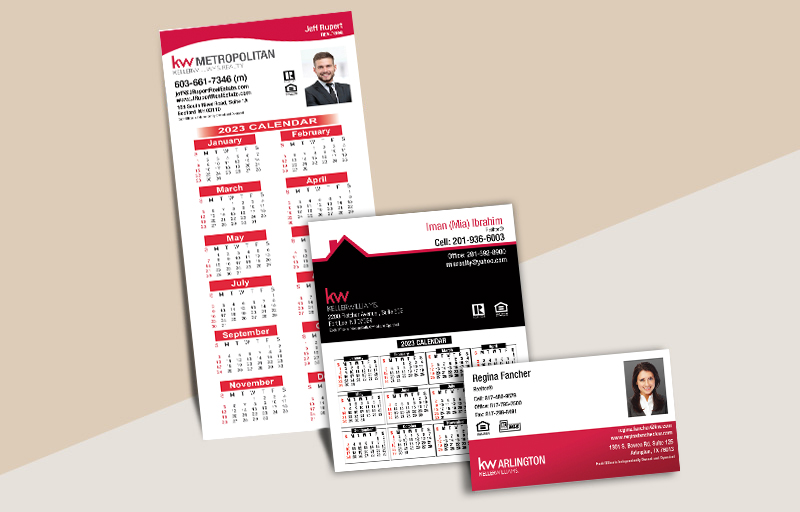 Keller Williams Real Estate Business Card Magnets - KW approved vendor magnets with photo and contact info | BestPrintBuy.com