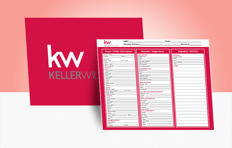 Keller Williams Real Estate Broker Transaction Folders - KW approved vendor document folders | BestPrintBuy.com