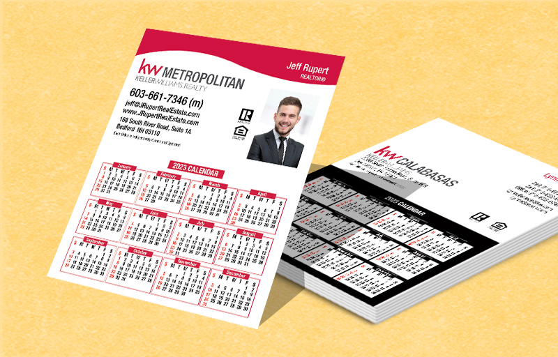 Keller Williams Real Estate Mini Business Card Calendar Magnets - KW approved vendor 2019 calendars | BestPrintBuy.com