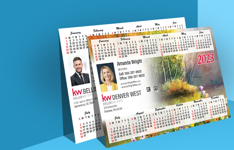 Keller Williams Real Estate Full Calendar Magnets - Horizontal - 5.5