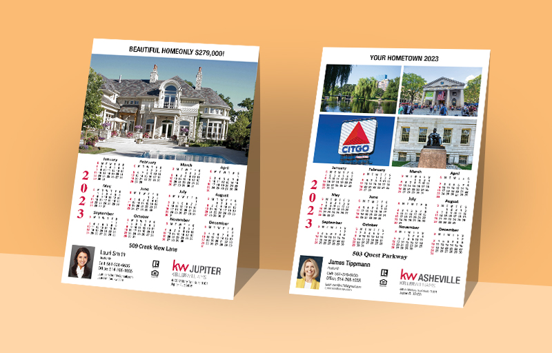 Keller Williams Real Estate Full Calendar Magnets With Photo Option - KW approved vendor 2019 calendars | BestPrintBuy.com