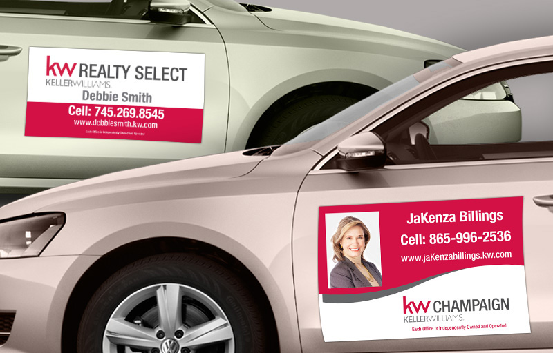 Keller Williams Real Estate Car Magnets - KW approved vendor car door magnets | BestPrintBuy.com