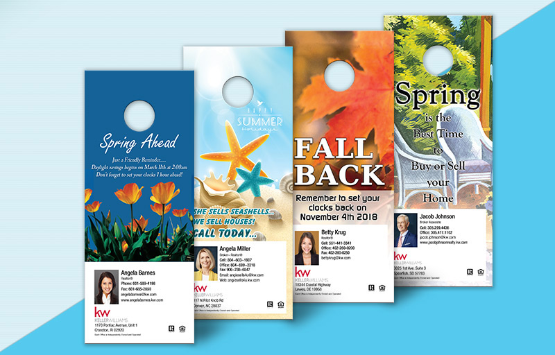Keller Williams One Sided Door Hangers: Seasonal - KW Approved Vendor Gloss Door Knockers for Realtors | BestPrintBuy.com