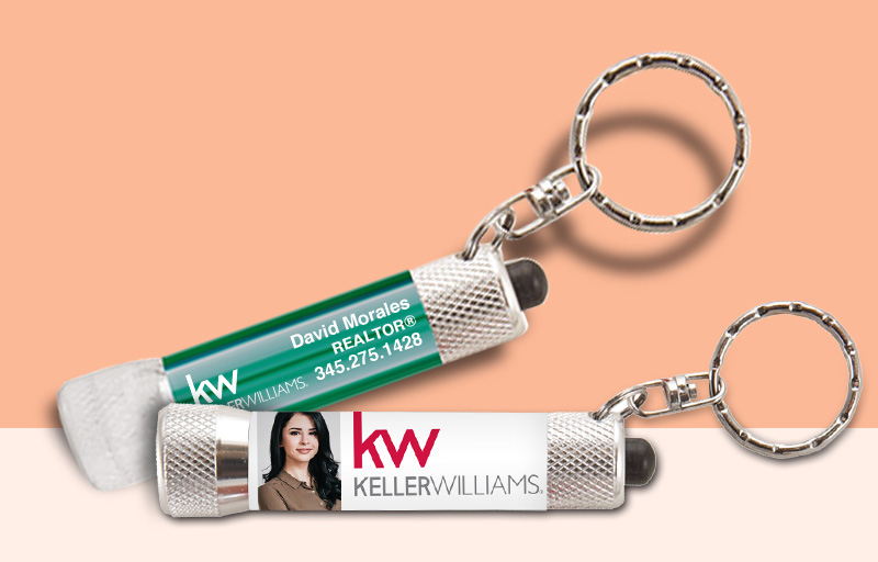 Keller Williams Real Estate Flashlights - KW approved vendor personalized promotional products | BestPrintBuy.com