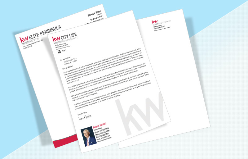Keller Williams Real Estate Letterheads Kw Roved Vendor Custom Letterhead Stationery For Realtors Bestprint