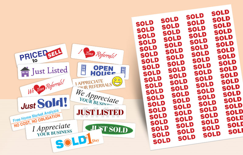 Keller Williams Real Estate Rectangle Stickers - KW approved vendor stickers with messages | BestPrintBuy.com