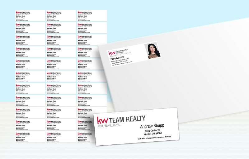 Keller Williams Real Estate Return Address Labels