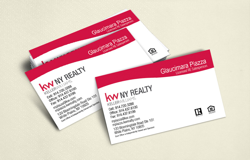 Keller Williams Real Estate Ultra Thick Business Cards Without Photo - KW Approved Vendor - Luxury, Thick Stock Business Cards with a Matte Finish for Realtors | BestPrintBuy.com