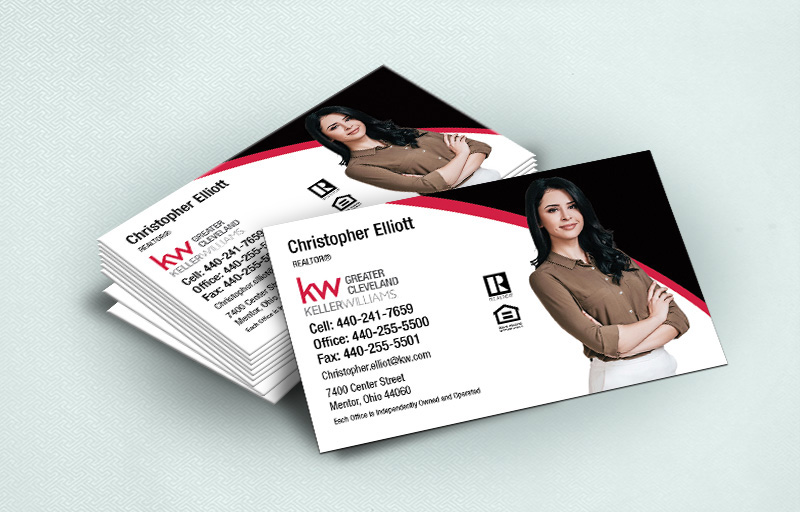 Keller Williams Real Estate Ultra Thick Business Cards With Silhouette Photo - KW Approved Vendor - Luxury, Thick Stock Business Cards with a Matte Finish for Realtors | BestPrintBuy.com
