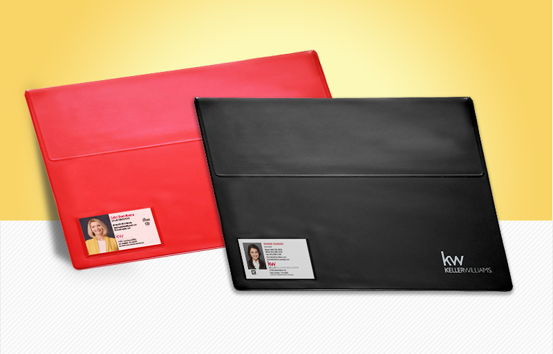 Keller Williams Real Estate Vinyl Closing Document Folders - KW approved vendor document folders | BestPrintBuy.com