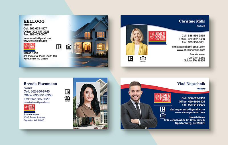 Long and Foster Real Estate Business Card Magnets - Long and Foster  magnets with photo and contact info | BestPrintBuy.com