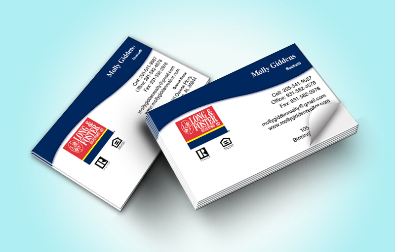 Long and Foster Real Estate Business Card Labels Without Photo - Long and Foster marketing materials | BestPrintBuy.com