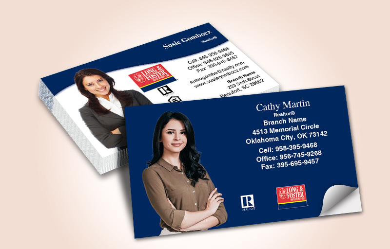 Long and Foster Real Estate Silhouette Business Card Labels - Long and Foster marketing materials | BestPrintBuy.com
