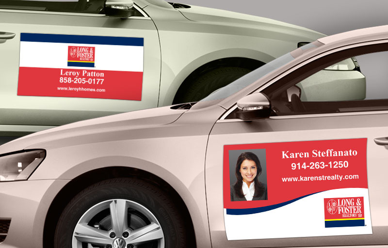 Long and Foster Real Estate Car Magnets - Long and Foster car door magnets | BestPrintBuy.com