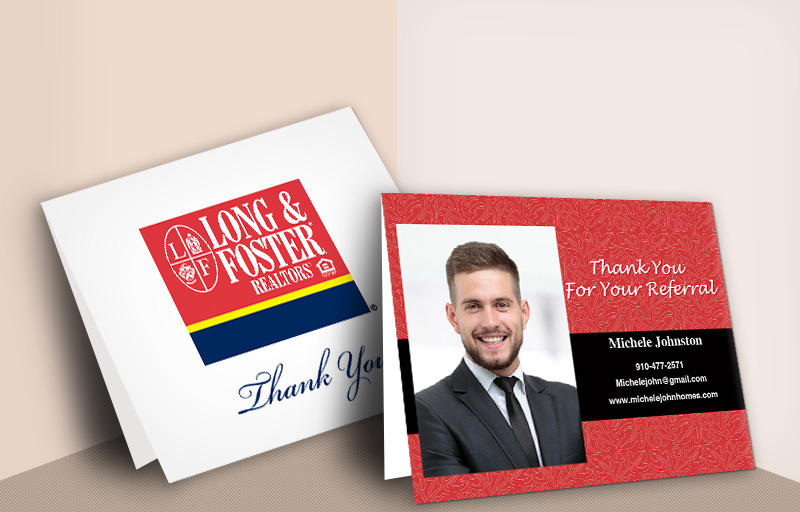 Long and Foster Real Estate Folded Note Cards - Long and Foster  thank you cards stationery | BestPrintBuy.com