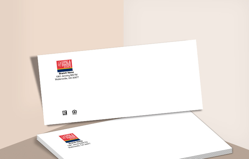 Long and Foster Real Estate #10 Office Envelopes - Long and Foster - Custom Stationery Templates for Realtors | BestPrintBuy.com