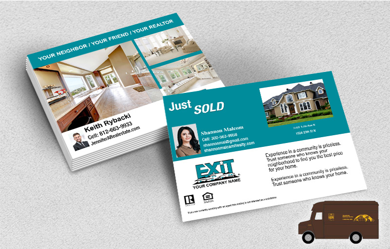 Exit Realty Postcards (Delivered to you) - Exit Realty approved vendor postcard templates | BestPrintBuy.com