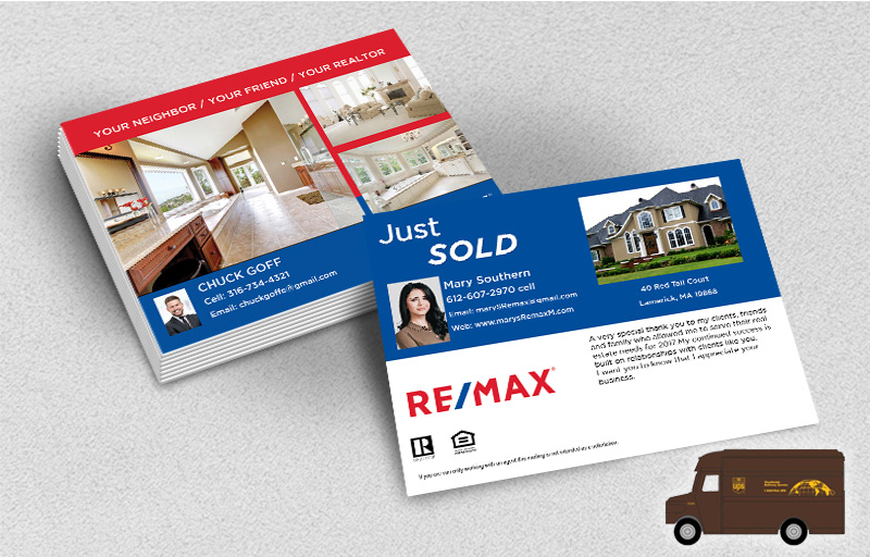 RE/MAX Real Estate Postcards (Delivered to you) - RE/MAX  postcard templates | BestPrintBuy.com