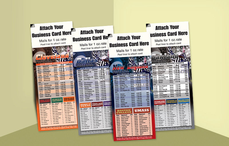 Realty Associates Real Estate Football Schedules - Realty Associates custom sports schedule magnets | BestPrintBuy.com