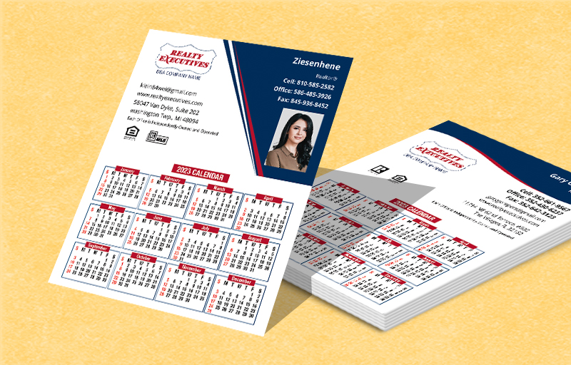 Realty Executives Real Estate Mini Business Card Calendar Magnets - Realty Executives  2019 calendars | BestPrintBuy.com