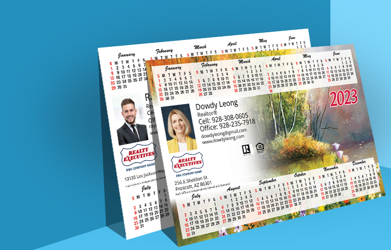 Realty Executives Real Estate Full Calendar Magnets 5.5