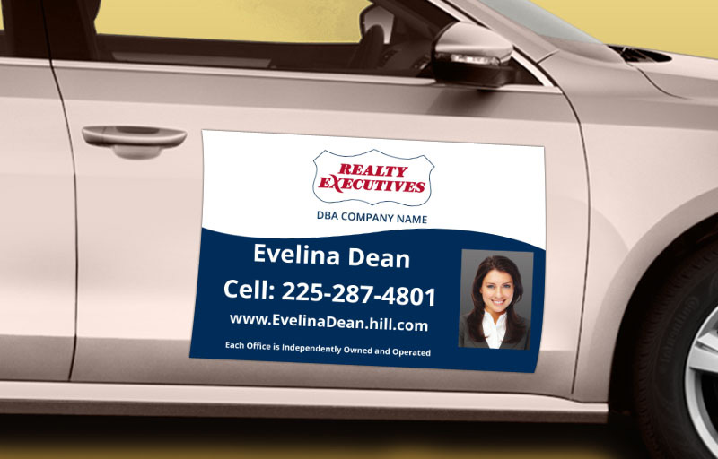 Realty Executives Real Estate 12 x 18 with Photo Car Magnets - Realty Executives  custom car magnets for realtors | BestPrintBuy.com